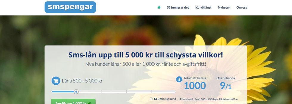 Smslån 500 kr för att klara kortvarig stram ekonomi